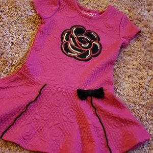 Hot Pink flower dress